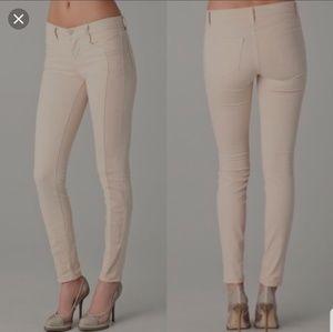 J BRAND Kinsey Empress Nude Panelled Skinny Jeans